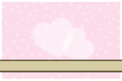 Cartão cor-de-rosa do casamento Imagem de Stock