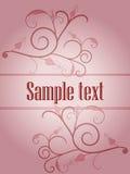 Cartão cor-de-rosa do ornamento Ilustração Stock