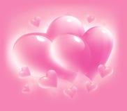 Cartão cor-de-rosa para o dia do Valentim Fotos de Stock Royalty Free