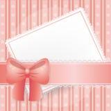 Cartão cor-de-rosa para ocasiões doces Foto de Stock Royalty Free