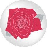 Cartão cor-de-rosa redondo do vetor Fotos de Stock Royalty Free