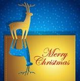 Cartão creativo do Natal ilustração royalty free