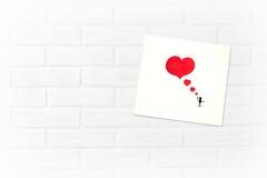 Cartão criativo do dia do ` s do Valentim em um estilo escandinavo com vazio Imagens de Stock Royalty Free