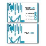 Cartão 3d azul ilustração royalty free
