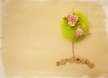 Cartão da árvore da flor fotografia de stock