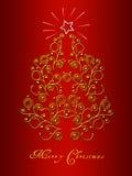 Cartão da árvore de Natal Imagens de Stock Royalty Free