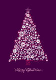 Cartão da árvore de Natal Foto de Stock
