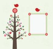 Cartão da árvore de Natal Imagem de Stock