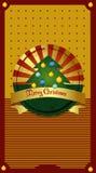 Cartão da árvore de Natal Fotos de Stock Royalty Free
