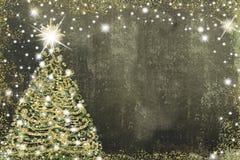 Cartão da árvore de Natal, espaço da cópia Imagens de Stock Royalty Free