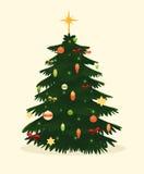 Cartão da árvore de Natal Ilustração do vetor Imagem de Stock Royalty Free