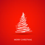 Cartão da árvore do Feliz Natal Foto de Stock
