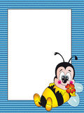 Cartão da abelha Fotos de Stock Royalty Free
