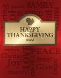 Cartão da acção de graças Fotografia de Stock Royalty Free