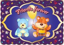 Cartão da amizade Fotografia de Stock