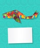 Cartão da baleia Fotos de Stock Royalty Free