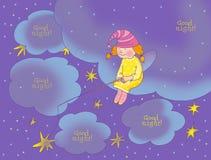 Cartão da boa noite Imagens de Stock Royalty Free