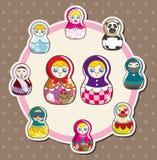 Cartão da boneca dos desenhos animados Foto de Stock Royalty Free