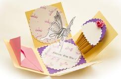 Cartão da borboleta Fotografia de Stock Royalty Free