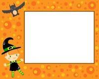 Cartão da bruxa de Halloween Fotos de Stock Royalty Free
