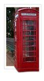 Cartão da cabine de Telphone Imagens de Stock