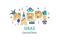 Cartão da celebração de Mardi Gras foto de stock