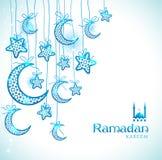 Cartão da celebração de Ramadan Kareem Foto de Stock