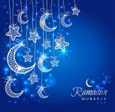 Cartão da celebração de Ramadan Kareem fotografia de stock