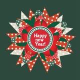Cartão da celebração do ano novo Imagens de Stock