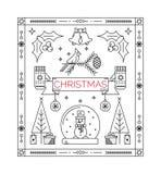 Cartão da celebração do Natal Foto de Stock