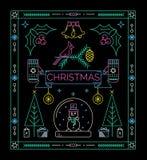 Cartão da celebração do Natal Imagens de Stock