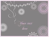 Cartão da celebração do Natal do inverno e do ano novo imagem de stock