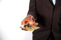 Cartão da coligação do negócio Fotos de Stock