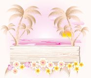 Cartão da cor pastel do verão Fotografia de Stock Royalty Free