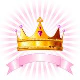 Cartão da coroa da princesa Foto de Stock