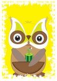 Cartão da coruja ø Imagem de Stock