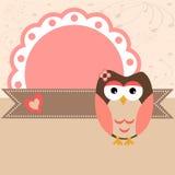 Cartão da coruja Fotos de Stock Royalty Free