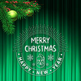 Cartão da decoração da árvore de Natal ilustração stock