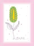 Cartão da decoração do quadro da foto do amor do sumário somente Foto de Stock Royalty Free