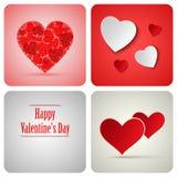 Cartão da decoração do Valentim feito do Livro Branco Imagens de Stock