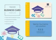 Cartão da educação ou molde do cartão de nome ilustração stock