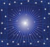 Cartão da estrela Imagem de Stock