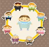 Cartão da família dos desenhos animados Foto de Stock