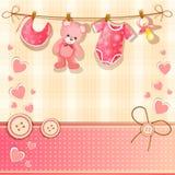 Cartão da festa do bebê Foto de Stock Royalty Free