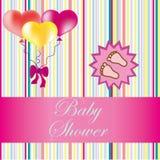 Cartão da festa do bebê Imagens de Stock