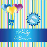 Cartão da festa do bebê Fotografia de Stock