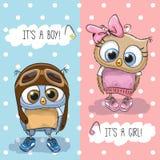 Cartão da festa do bebê ilustração stock