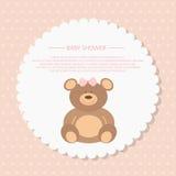 Cartão da festa do bebê ilustração royalty free