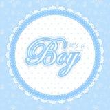 Cartão da festa do bebê para um menino Imagem de Stock