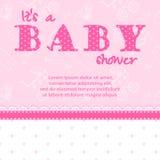 Cartão da festa do bebê para uma menina Fotos de Stock